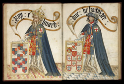 Edward III, in the Garter Book